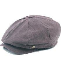 unisex vintage berretto in cotone di stile britannico in colore a tinta unita berreto da pittore con visiera