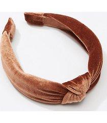 loft velvet top knot headband