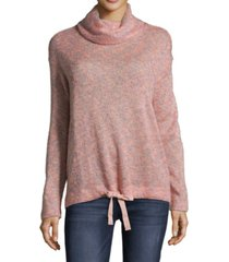 john paul richard petite cowlneck tie-hem sweater
