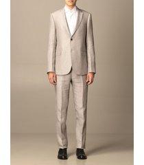 emporio armani suit emporio armani single-breasted suit in linen 265 gr
