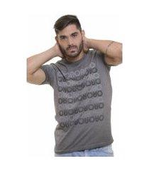 camiseta básica oitavo ato marmorizada wash grey masculina