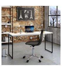 mesa de escritório studio branca 150 cm