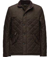 barbour powell quilt doorgestikte jas bruin barbour