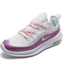 tenis running blanco-violeta nike air max axis