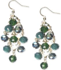 style & co gold-tone beaded kite drop earrings, created for macy's