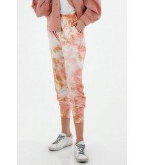 pantalon para mujer tennis, fondo entero y detalle tie dye