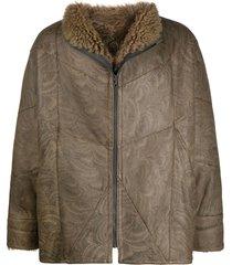 a.n.g.e.l.o. vintage cult 1980s sheepskin coat - brown