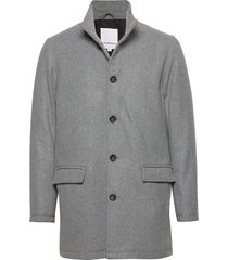 coat w stand up collar trenchcoat lange jas grijs lindbergh