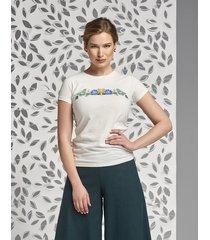 t-shirt z folkowymi kwiatami classic