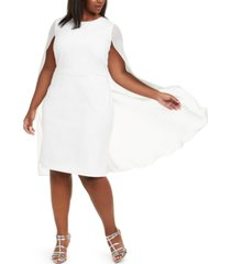calvin klein plus size cape sheath dress