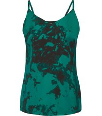 top in satin batik con spalline sottili (nero) - bodyflirt