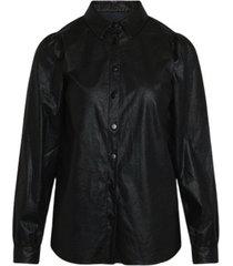 delia pu blouse