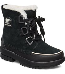 torino shoes boots ankle boots ankle boots flat heel svart sorel