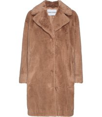 camille cocoon coat outerwear faux fur brun stand studio