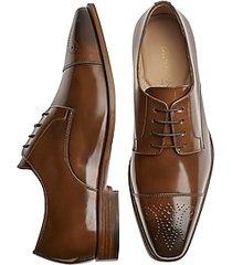giovacchini mike cognac cap toe derby dress shoes