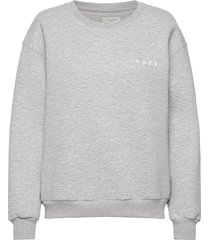 denver logo top sweat-shirt tröja grå norr