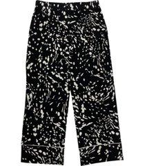 alfani petite printed capri pants, created for macy's