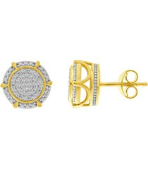 men's diamond (1/3 ct.t.w.) earring in 10k yellow gold