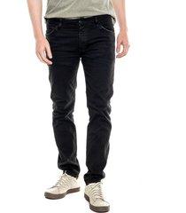black denim skinny jeans con destroy y realces en costuras color blue