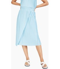 alfani drape-front pleated midi skirt, created for macy's