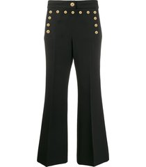 givenchy studded flare trousers - black
