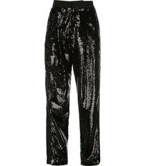 dundas sequinned trousers - black
