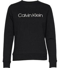 core logo prt sweatshirt sweat-shirt trui zwart calvin klein