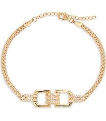 gabi rielle women's celebration 14k gold vermeil & crystal pavé loop bracelet
