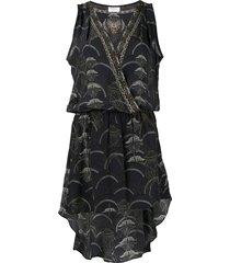 camilla wise wings cross over mini dress - black