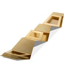 centro de mesa/fruteira step gold frozen - riva