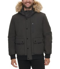 calvin klein men's snorkel jacket with removable faux-fur hood