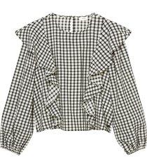 flounce blouse