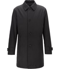 boss men's dain water-repellent overcoat