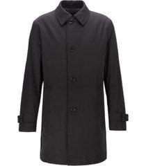 boss men's dain water-repellent overcoat