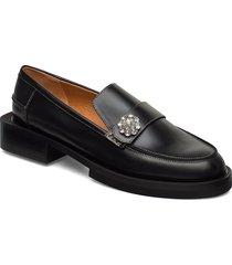 jewel loafers låga skor svart ganni