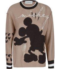 iceberg distressed effect mickey sweatshirt