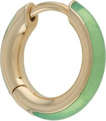 maria black katie huggie earring - green