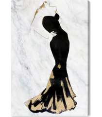 "oliver gal gill bay - black dress gold and marble canvas art, 30"" x 45"""