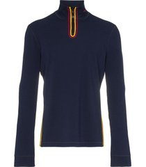 calvin klein 205w39nyc high neck zip up sweater - blue