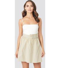 trendyol belt detailed skirt - beige