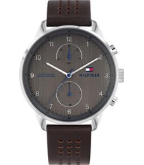reloj chase gris tommy hilfiger