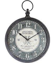 zegar ścienny metalowy belle mode