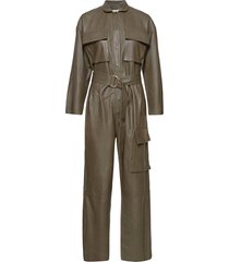 rose leather jumpsuit jumpsuit beige notes du nord