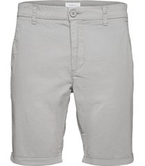 chuck regular chino poplin shorts - shorts chinos shorts grå knowledge cotton apparel