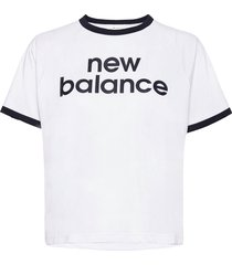 achiever graphic high low tee t-shirts & tops short-sleeved vit new balance