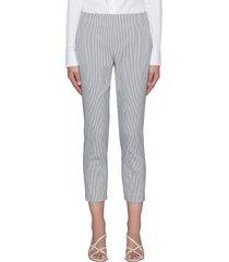 fine pinstripe cotton crop treeca pants