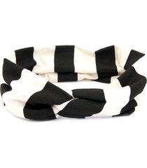 headband turbante bijoulux com listras preto - tricae