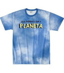 camiseta tie dye viroblock® adulto malwee azul escuro - p