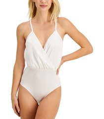 inc cross-front cami bodysuit, created for macy's