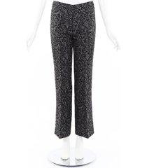 michael kors collection studded wool full length pants black/white sz: xs